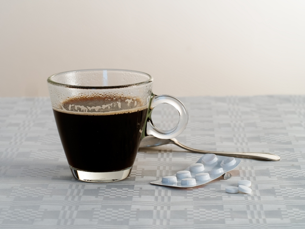 PAIN KILLERS AND COFFEE TO HELP HANGOVERS